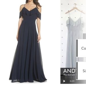 Jenny Yoo Mila Cold Shoulder Dress